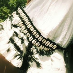Conch seashell belt handmade fairtrade